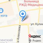 Люмар на карте Астрахани