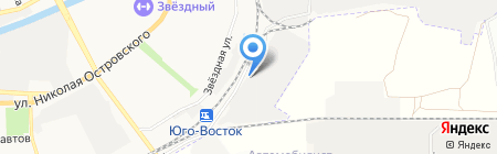 Тротуарный кРай на карте Астрахани