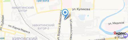Седой Каспий на карте Астрахани