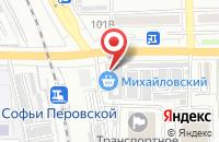 Схема проезда до компании Паркет-Дизайн в Астрахани