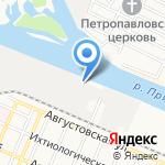 Инвестхолод на карте Астрахани
