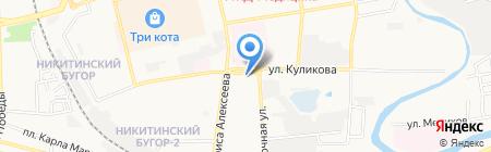 SK на карте Астрахани