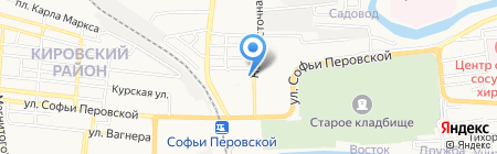 Управление федеральных автомобильных дорог на карте Астрахани