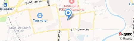 Банкомат Московский Индустриальный банк на карте Астрахани