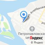 Средняя общеобразовательная школа №61 с дошкольным отделением на карте Астрахани