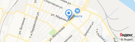 Маркина на карте Астрахани