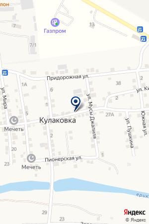 Продуктовый магазин на Советской на карте Астраханской области