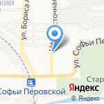 Заливной глоток на карте Астрахани