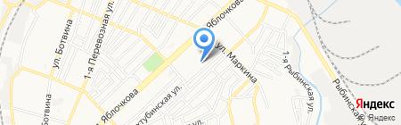 Детский сад №81 Серебряное копытце на карте Астрахани