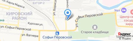 Атака на карте Астрахани