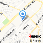 Серебряное копытце на карте Астрахани