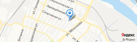 Диамант на карте Астрахани