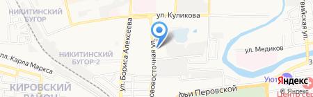 Автошик на карте Астрахани