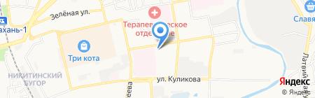 Луч на карте Астрахани