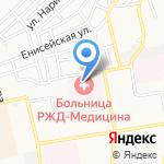 Отделенческая больница на ст. Астрахань-1 на карте Астрахани