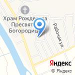 Кирпичнозаводская средняя общеобразовательная школа с дошкольным отделением на карте Астрахани