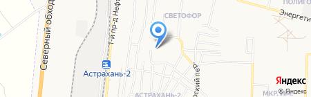 Северный на карте Астрахани