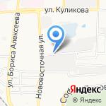 Анкор на карте Астрахани