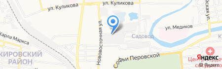 Евростекло на карте Астрахани