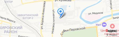 Болид на карте Астрахани