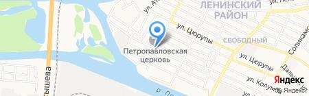 Открытая сменная общеобразовательная школа №5 на карте Астрахани