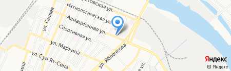 Гейзер на карте Астрахани