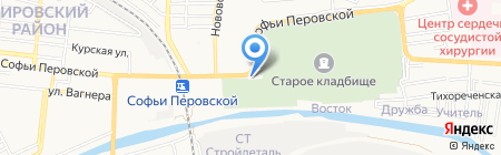Опал на карте Астрахани
