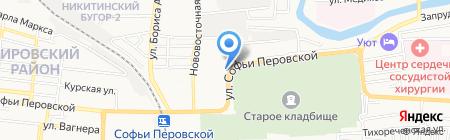 Матек-трейд на карте Астрахани