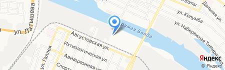 Хладокомбинат Астраханский на карте Астрахани