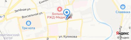 Киоск фастфудной продукции на карте Астрахани