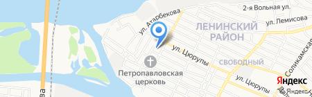 Средняя общеобразовательная школа №61 на карте Астрахани