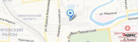 Ампир на карте Астрахани
