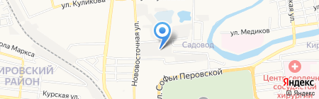 Арт-Сити на карте Астрахани