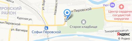 Зеленый свет на карте Астрахани