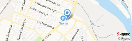 Экспресс-С на карте Астрахани