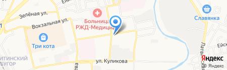 Фиеста на карте Астрахани