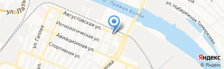 Русская икра на карте Астрахани