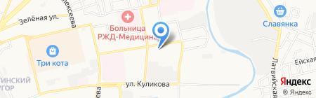 Экватор на карте Астрахани