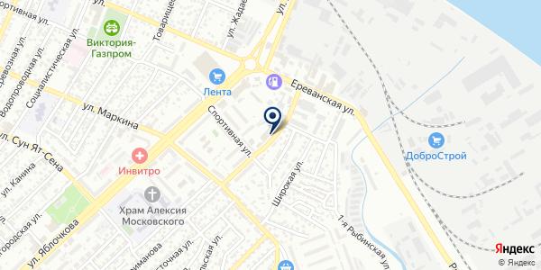 Оптово-розничная фирма на карте Астрахани
