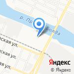 Южный путь на карте Астрахани