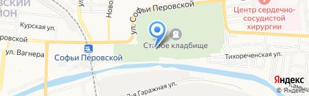 Похоронное бюро на карте Астрахани