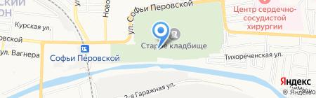 Церковь Иоанна Предтечи на карте Астрахани