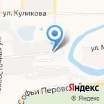 Росско на карте Астрахани