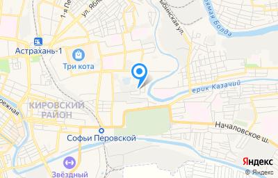 Местоположение на карте пункта техосмотра по адресу г Астрахань, ул 3-я Зеленгинская, стр 21