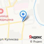 Рыжий кот на карте Астрахани