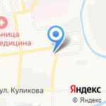 Башак на карте Астрахани