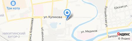 Дар на карте Астрахани