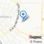 Бабаевский на карте Астрахани