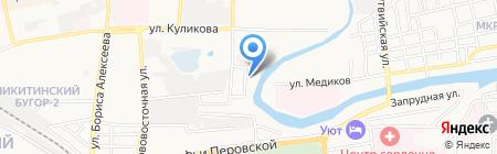 Дубки на карте Астрахани