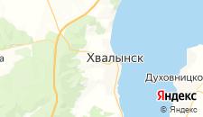 Гостиницы города Хвалынск на карте